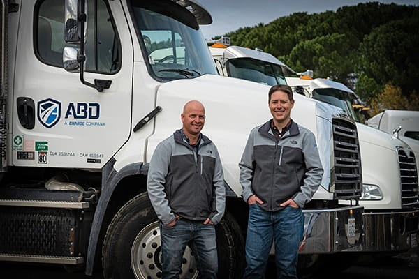 Founders in front of ABD truck